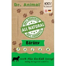 Dr. Animal 100% szárított bárányhús kockák 500g