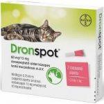 Dronspot 60 mg/15 mg rácsepegtető oldat közepes testű macskáknak 2x0,7ml