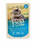 Sam's Field True Meat Fillets - Fehér hal & Borsó alutasakos eledel 85g
