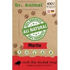 Dr. Animal 100% szárított marhahús kockák 80g