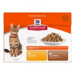 Hill's SP Feline Adult Multipack 12x85g (6x chicken, 6x turkey)