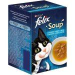 FELIX Soup tőkehal, tonhal és lepényhal leves macskáknak 6x48g