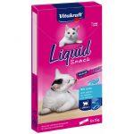 Vitakraft Cat Liquid Snack - szószos jutalomfalat lazaccal és omega 3-mal (6x15g)