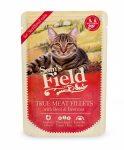 Sam's Field True Meat Fillets for sterilized cats - Marha és cékla alutasakos eledel 85g