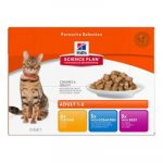 Hill's SP Feline Adult Multipack 12x85g (6x chicken, 3x ocean fish, 3x beef)