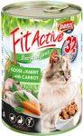 FitActive Cat Adult liba, nyúl, sárgarépa konzerv 415g