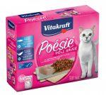 Vitakraft Poésie Déli Sauce - nedvestáp (tőkehal, fekete tőkehal) macskák részére (7X85g)