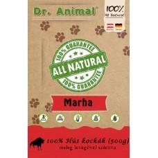Dr. Animal 100% szárított marhahús kockák 500g