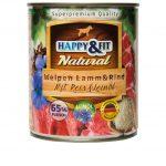 Happy&Fit Natural Welpen Lamm&Rind mit Reis&Leinöl 6x400g