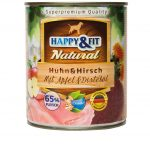Happy&Fit Natural Huhn&Hirsch mit Apfel&Distelöl 6x400g