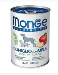 Monge MONOPROTEIN 100% nyúl és alma pástétom 400g