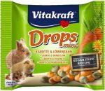Vitakraft Drops Mini sárgarépa,pittypang - jutalomfalat rágcsálóknak (40g)