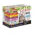 FitActive Cat Fit-a-box 4 féle húsos válogatás szószban (12x100g)
