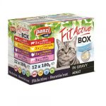 FitActive Cat Fitabox 4 féle húsos válogatás szószban (12x100g)