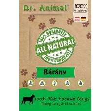 Dr. Animal 100% szárított bárányhús kockák 80g