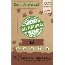 Dr. Animal 100% szárított lóhús lapok 80g