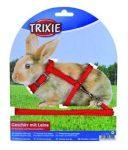 Trixie 6150 hám és póráz szett (vegyes színek) nyulak részére (25-44cm/8mm)